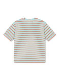 스트라이프 포켓 반팔 티셔츠