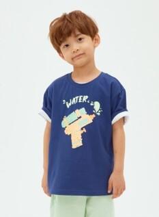 시퀸 그래픽 반팔 티셔츠