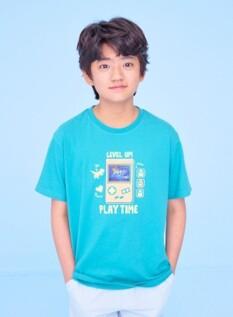 홀로그램 그래픽 반팔 티셔츠