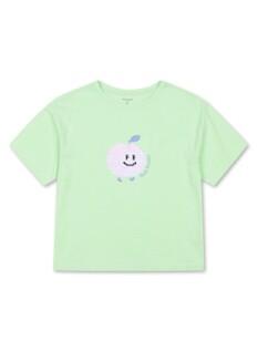 여아 시퀸 그래픽 반팔 티셔츠