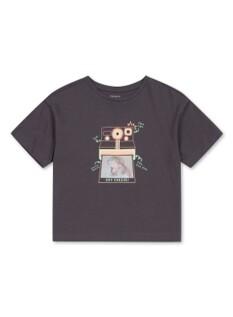 여아 홀로그램 그래픽 반팔 티셔츠