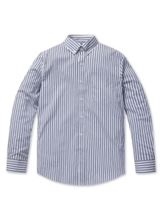 버튼 다운 스트라이프 셔츠 (BL)