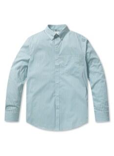 버튼 다운 스트라이프 셔츠 (MT)