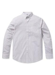 버튼 다운 스트라이프 셔츠 (PK)