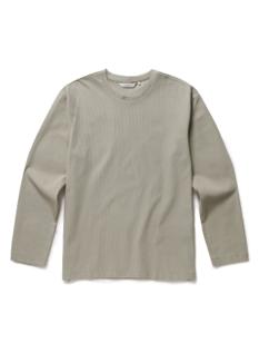 와플조직 라운드 티셔츠
