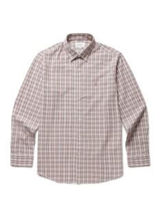 쿨 코튼 컬러 체크 셔츠