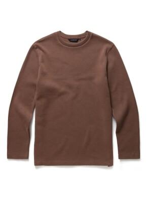 라운드넥 기모 티셔츠
