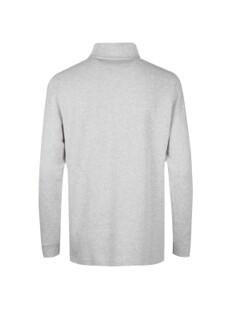 버튼 하프 터틀넥 티셔츠