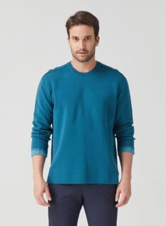 워셔블 이중지 스웨터